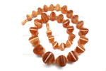 10x8mm-18x18mm Amber Horn Necklace 18""