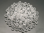 Seed Beads 3mm 8/O 50 Gram 1.7Oz (Appx.2000), Transparent White