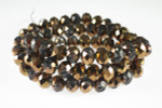 """8x6mm 2-Tone Copper Crystal Faceted Rondelle 17"""""""