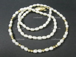 "4-5mm Freshwater Pearl Necklace 18""  [e562]"