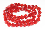 """8mm Red Crystal Faceted Twisted 20"""""""