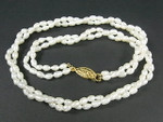 4-5mm 2-Row Freshwater Pearl Necklace 17""