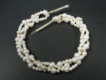 "4-6mm 3-Row Freshwater Pearl 12"", Total 36"""