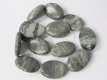 20x28mm Alpine Agate Puff Oval Beads 15.5""