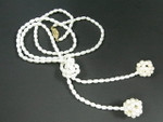 "4-5mm Freshwater Pearl Necklace 36"" + Pearl Ball"