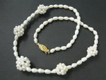 "5-6mm Freshwater Pearl Necklace 18"" With 5pcs. 12-16mm Pearl Ball"