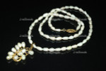 "4-5mm Freshwater Pearl Necklace 17"" 14k 585 Gold Clasp & Pendant"