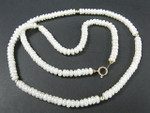 "4-5mm Freshwater Pearl Necklace 17"" 14K 585 Gold Clasp & 5pcs.14K Beads"