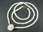 "4-5mm Freshwater Pearl Necklace 22"" 14K 585 Gold Clasp & 4pcs.14K Beads"