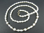 "4-5mm Freshwater Pearl Necklace 18"" 14K 585 Gold Clasp & 10pcs.14K Beads"