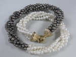 5-6mm 4-Row Freshwater Pearl Necklace 18""