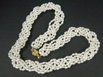 4-5mm 5-Row Pearl Knitted Necklace 22""