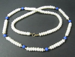 "4-5mm Freshwater Pearl Necklace 18"" 14K 585 Gold Clasp & 16pcs.14K Beads"