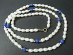 "4-5mm Freshwater Pearl Necklace 21"" 14K 585 Gold Clasp & 18pcs.14K Beads"