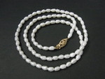 "4-5mm Freshwater Pearl Necklace 17"" 14K 585 Gold Clasp"