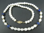"5-6mm Freshwater Pearl Necklace 15.5"" 14K 585 Gold Clasp"