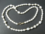 "4-5mm Freshwater Pearl Necklace 17"" 14K 585 Gold Clasp & 24pcs.14K Beads"