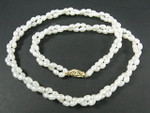 "4-5mm 2-Row Freshwater Pearl Necklace 18"" 14K 585 Gold Clasp"