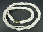 "4-5mm 3-Row Freshwater Pearl Necklace 18"" 14K 585 Gold Clasp"