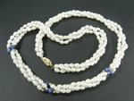 "4-5mm 3-Row Freshwater Pearl Necklace 20"" 14K 585 Gold Clasp & 18pcs.14K Beads"