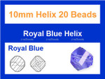 10mm Sapphire Crystal Helix 20 Beads