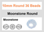 10mm Moonstone Faceted Round 37 Beads