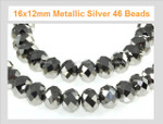 12x8mm Crystal Ab Faceted Rondelle 63 Beads [ux621]