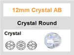 12mm Crystal AB Faceted Round 32 Beads [ux623]
