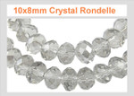 10x7mm Crystal Ab Faceted Rondelle 70 Beads [ux634]