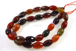 """10x14mm Tourmaline Agate Faceted Rice Beads 15.5"""""""