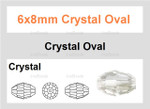 6x8mm Crystal Faceted Rice 36 Beads