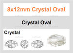 """8x12mm Crystal Faceted Rice 36 Beads (Approx.16"""")"""