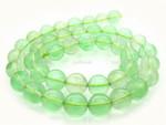 """12mm Reconstituted Green Quartz Round Beads 15.5"""""""