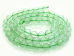 6mm Reconstituted Green Quartz Round Beads 15.5""