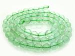 """6mm Reconstituted Green Quartz Round Beads 15.5"""""""