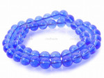 8mm Reconstituted Blue Quartz Round Beads 15.5""