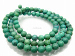 8mm Green Turquoise Round Beads 15.5""