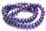 """[cr8d11] 8mm Amethyst Dyed Faceted Rondelle Beads 15.5"""""""