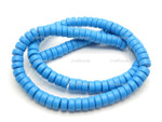 6mm Blue Turquoise Heishi Beads 15.5""