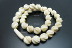 "12mm Buffalo Bone Rope Beads Necklace 18"" [z1877]"