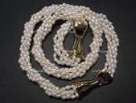 4-5mm 5-Row Pearl Necklace  & Bracelet