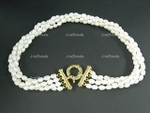 5-6mm 4-Row Pearl Necklace
