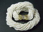 4-5mm 10-Row Pearl Necklace