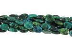 10x15mm Azurite Chrysocolla Oval beads 15.5""
