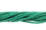 "4mm Green Turquoise Heishi Beads 15.5"""