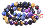 8mm  Mix Fire Agate Faceted Beads 15.5""