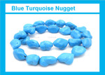 [t9b16b] 14-16mm Turquoise Nugget 15.5""