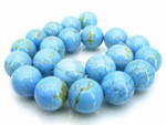 "10mm Blue Turquoise Round Beads 15.5"" A Grade"