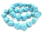 "12-16mm Turquoise Nugget 15.5"" [t9b16c]"