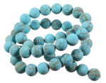 """8mm Matte Blue Turquoise Round Beads 15.5"""" [8d21m]"""